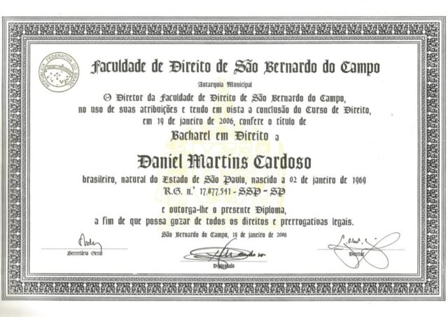 Diploma Direito - FDSBC